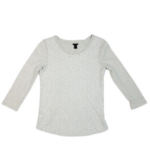 J Crew Embroidered Long Sleeve